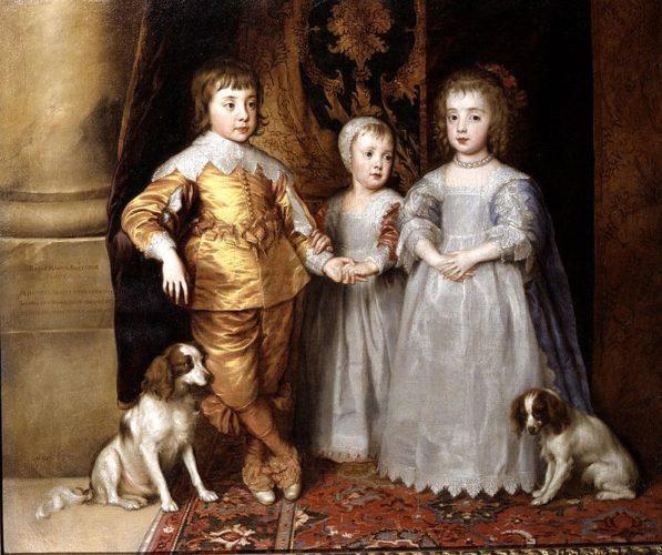 ван дейк портрет трех старших детей карла I