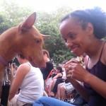 Фараонова собака с хозяйкой