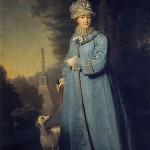 Екатерина II в Царскосельском парке. В.Боровиковский